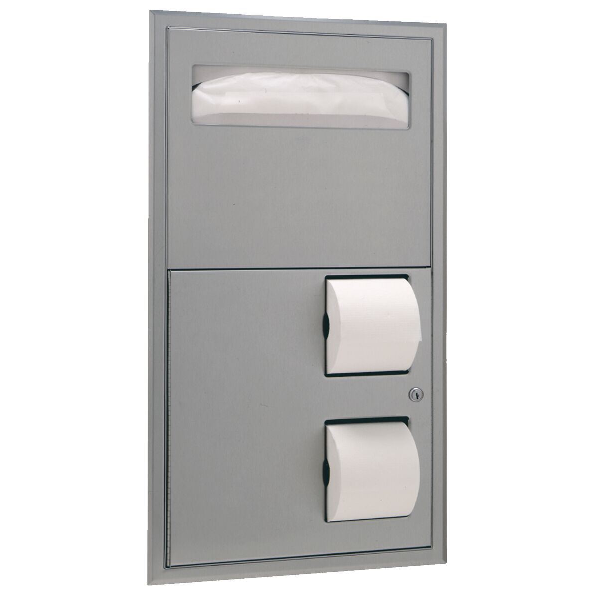 Bobrick Recessed Seat Cover Dispenser And Toilet Tissue